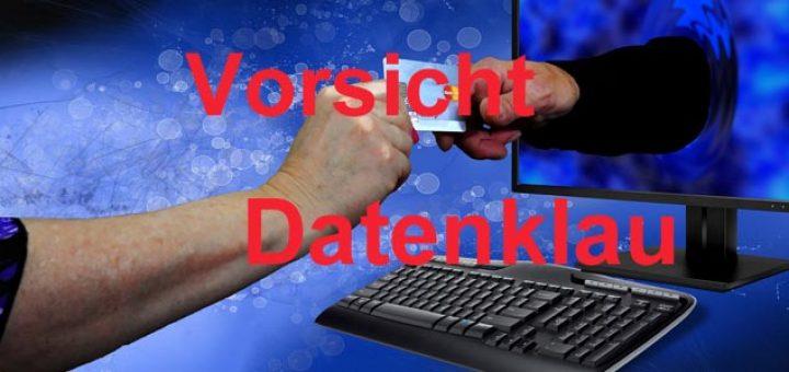 Vorsicht vor Datenklau im Internet. Betrug bei der Internetsuche.